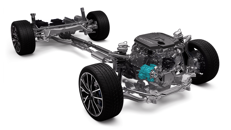 De Maserati Ghibli Hybrid maakt o.a. gebruik van een eBooster
