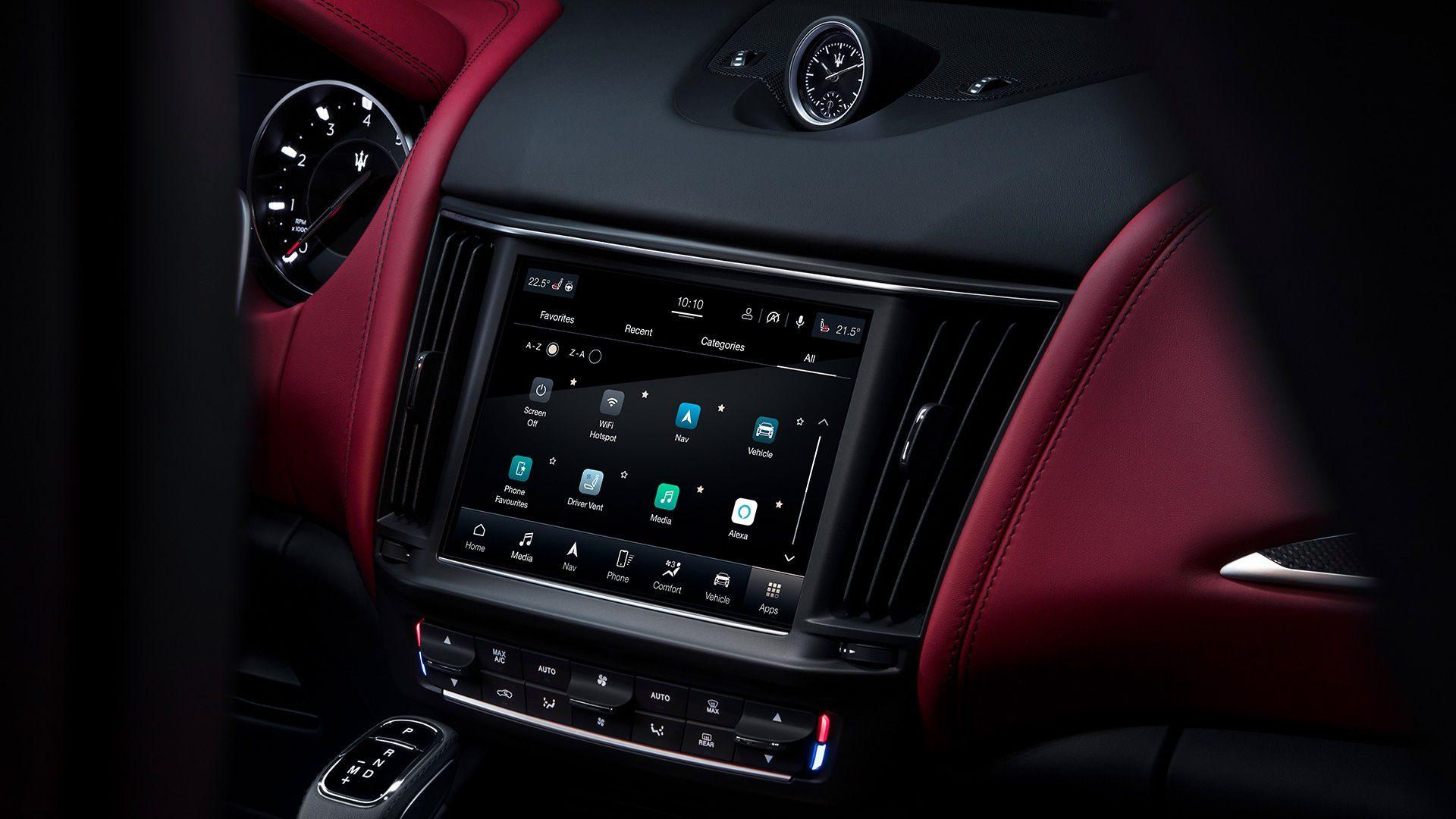 Aangedreven door Android Automotive OS, biedt de nieuwe generatie MIA - Maserati Itelligent Assistant - een innovatieve en gepersonaliseerde gebruikerservaring.